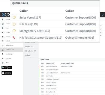 contact center queue calls